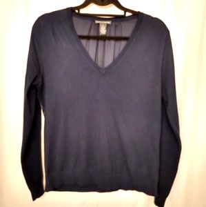 Chelsea & Theodore Sweater with sheer back